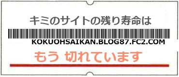 画像:サイト賞味期限(http://kokuohsaikan.blog87.fc2.com)