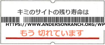 画像:サイト賞味期限(https://www.andersonranch.org/wp-login.php)