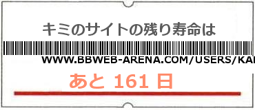 画像:サイト賞味期限(http://www.bbweb-arena.com/users/kaede472/)