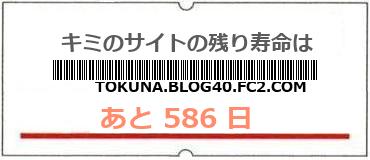 画像:サイト賞味期限(http://tokuna.blog40.fc2.com/)